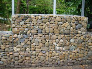 A malha metálica soldada galvanizado Gabião autonomização de paredes de pedra de Retenção