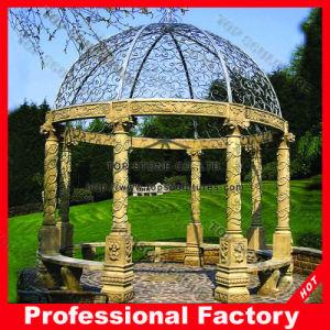 庭のための鋳鉄の上が付いている石造りの大理石の庭の望楼