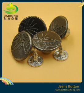 재킷과 외투를 위한 관례에 의하여 새겨지는 로고 합금 금속 청바지 단추