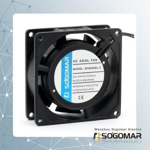 Ventilator ausstrahlen 80X80X25mm mit Kugellager des Draht-2-Lead für das Abkühlen