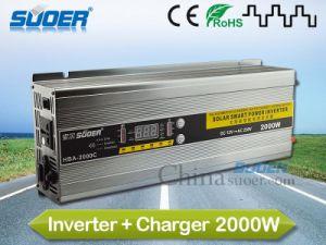 Suoer 12V 220V de 2000W Inversor Cargador Solar con HBA (-2000C)