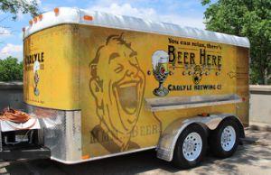 맥주 Drnks를 위한 고품질 음식 트레일러