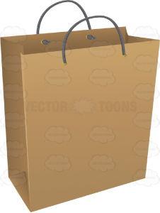 Sacchi di acquisto della carta di colore del Brown
