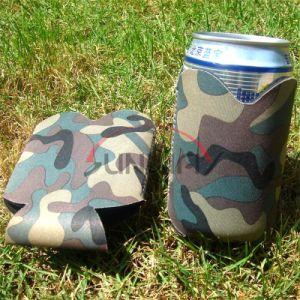 Camo 내오프렌 맥주 캔 냉각기, 주문 그루터기 같은 홀더, 병 Koozie (BC0002)