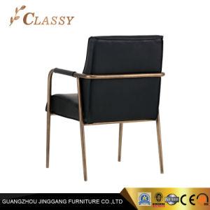 Черный Leathr Accent кресло старинной гостиной мебели
