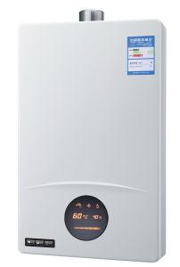 El ventilador obligado calentador de agua de gas con Shell Jsq S/S--HW-QC75 (8-12 L)