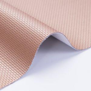 Canasto tejido repujado de cuero de PVC para el mensaje presidente