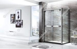 Zaal van de Douche van het Glas van de Luxe van de Badkamers van het Hotel van de Douane van China de Glijdende Rechthoekige