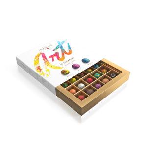 Personalizar el papel de regalo de caja de cosméticos de caramelo de Chocolate de Embalaje Embalaje
