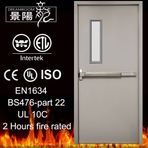 UL de 2 horas 3X7FT Fuego Metal puerta con barra antipánico