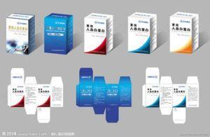 La capsule, la pilule la case Impression papier à l'emballage