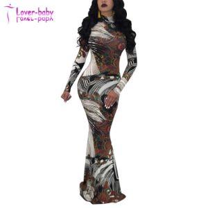 Nouvelle conception des femmes Paisley Maxi robe abstrait
