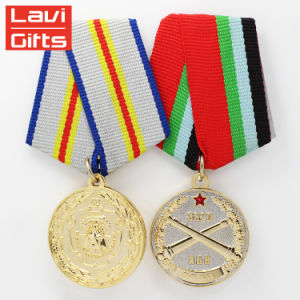 中国はイギリスのスポーツの金属の金のPinの軍のMedalingメダルをカスタム設計する