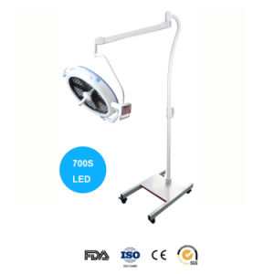 車輪およびブレーキ(700S LED)が付いている携帯用Shadowless LEDの操作ライト外科ランプ