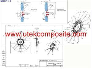 De KoelVentilator van hoge Prestaties voor Dieselmotor