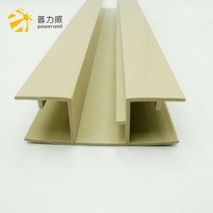 La plastica si è sporta profilo della plastica del PVC di colore giallo di figura di N grande