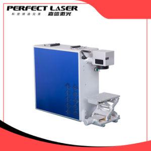 Qualitäts-Laser-Markierungs-Maschine auf gelbem Kupfer