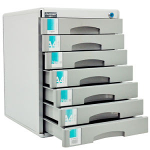 Capacity 큰 7 서랍 Metal Locking File Cabinet Silver Color
