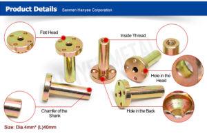 Accepter pièces détachées Accessoires moto OEM écrou plaqué laiton