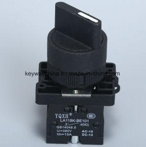 Dia22mm-La118kexの回転式押しボタンスイッチ