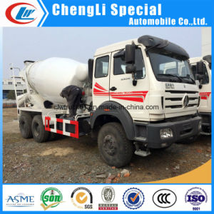North Benz 6X4 12cbm remover el cemento del tambor de tránsito de camiones hormigonera