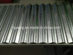 0.13-0.8mm Zinc ondulé en acier recouvert de feuilles de toit