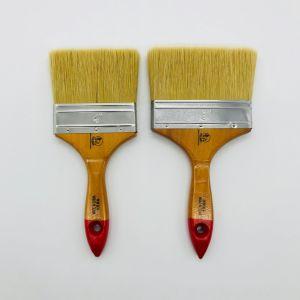 자연적인 순수한 강모 나무로 되는 손잡이를 가진 편평한 작풍 페인트 또는 페인트 붓
