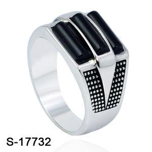 Mikro pflastern silbernen Ring des Mann-925 mit Kubikzirconia-Stein