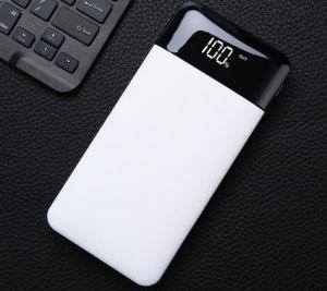 Super finos 10000mAh banco de potência ABS portátil com visor LED