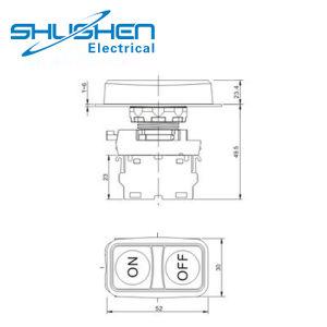 機械Xb2シリーズ高いボタンのための高品質IP40の二重ヘッドスイッチ