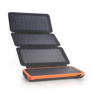 2018 neue Handy-Aufladeeinheit 15000mAh faltbare wasserdichte Doppel-USB-Sonnenenergie-Bank