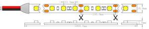 UL aprovado pela CE CRI elevado5050 30 LEDs LED SMD luz de faixa