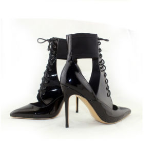 Sexy negro de Tacón zapatos de mujer