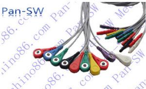 Holter кабель ЭКГ в 10 отведениях Leadwire, с защелкой, DIN 2.0 розеточной части разъема