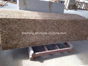 PrefabCountertop van het Graniet van Fiorito van Giallo voor de Bovenkant van de Ijdelheid