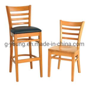 Mobiliário de madeira sólida Bar Restaurante Cadeira de jantar