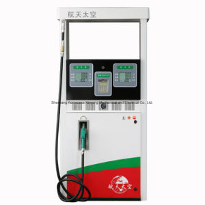 Dispensador de combustible de 2 tipos de combustible-2 Boquillas- 4 se muestra