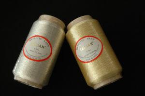600d algodón poliéster viscosa hilo metálico (S-131)