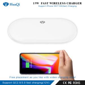 iPhoneのための排他的な極度の速い15W無線移動式充電器(4つのコイル)かSamsungまたはNokiaまたはMotorolaまたはソニーまたはHuawei/Xiaomi