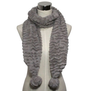 POM-Poms (YKY4363)のFashion Faux Fur Knitted Scarf女性