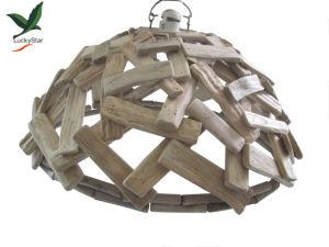 Linterna de madera para la decoración del hogar con LED