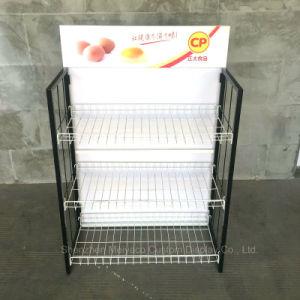 슈퍼마켓 금속 와이어 분리가능한 음식 선전용 진열대 창조적인 선반
