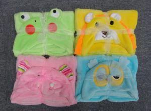 Фланелевая детское одеяло с вышивкой мягкий Handfeel отскочить сшитое кромки