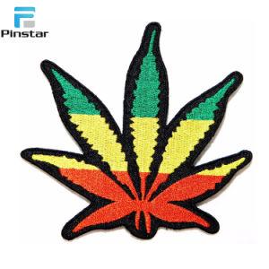 工場刺繍されたパッチの直接なされた緑の葉の鉄