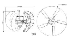 стан генератора ветротурбины/ветра оси 200W 12V/24V вертикальный/ветра для сбывания