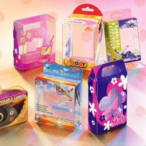 Costomizedは化粧品、食糧の、電気およびヘルスケアの製品のためのプラスチック折るボックスを印刷した