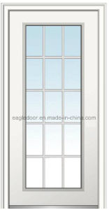 Populares de la puerta de acero americano solo vidrio interior puerta de metal (Ef-A018)