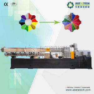 350-500kg/h vis double pour la préparation de boulettage de l'extrudeuse