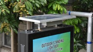 En el suelo al aire libre Caja de luz de la pantalla de publicidad