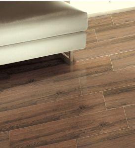 De houten Plank verglaasde de de Ceramische Muur van de Slaapkamer en Tegel van de Vloer